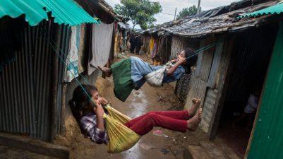 Refugiados: crianças refugiadas em Bangladesh