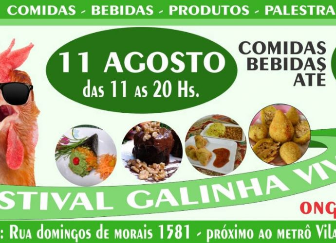 festival da galinha viva vegano