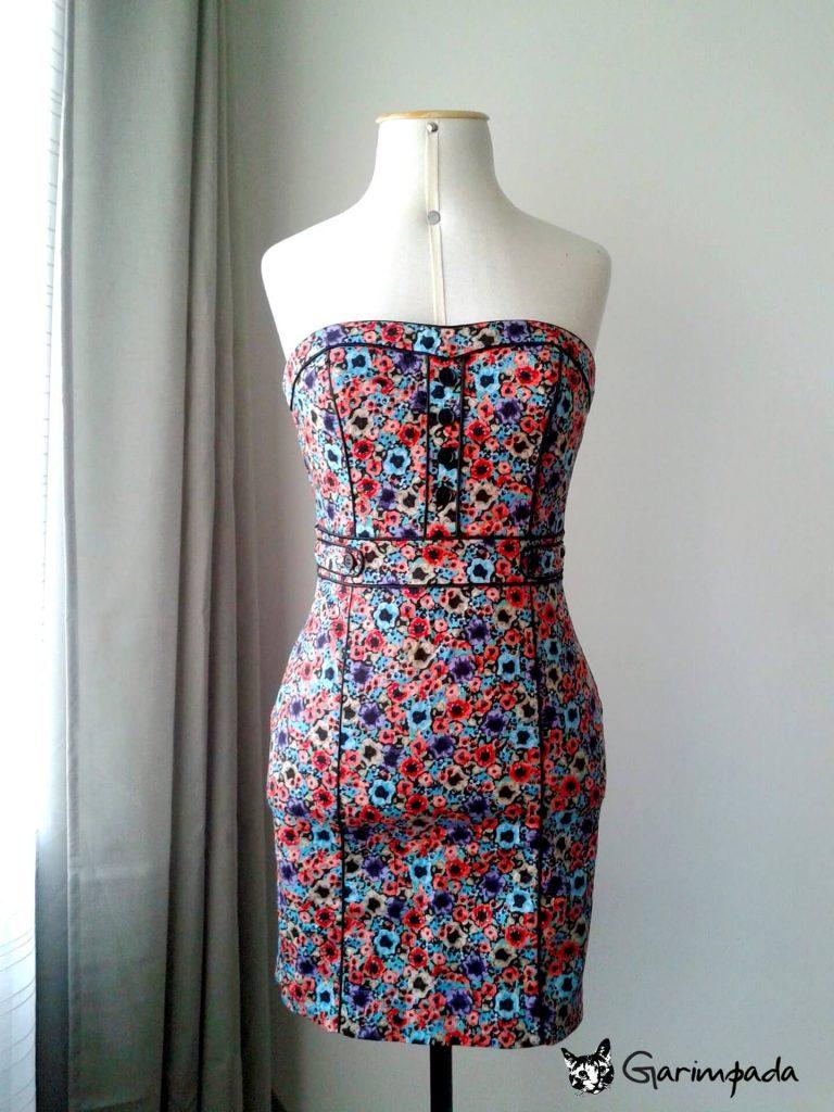 vestido tomara que caia moda sustentável