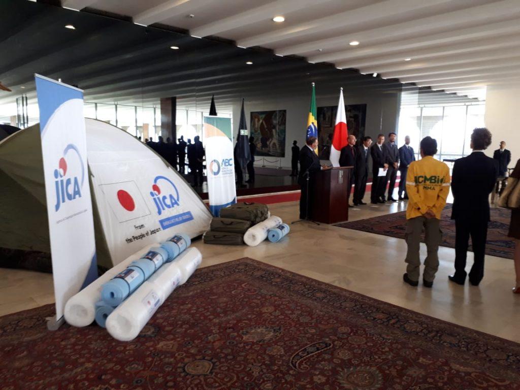 japão apoio ajuda incêndios florestais Brasil